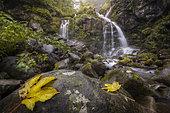 Dardagna waterfalls in autumn, Bologna, Italy