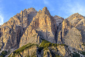 Piz dies Cunturines in the Dolomites, Dolomitic relief characteristic, Massif des Dolomites, Tyrol, Italy
