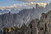 The Cadini di Misurina, Massif of the Dolomites, Natural Park of Tre Cime, Massif of the Dolomites, Tyrol, Italy