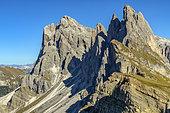 Odle Geislergruppe, in the Dolomites, Puez-Odle Nature Park, Dolomites Mountains, Tyrol, Italy