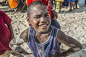 Tara Pacific expedition - november 2017 Yanaba Island, Egum Atoll, papua New Guinea, Young boy of Yanaba.