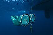 Tara Oceans Expeditions - May 2011. Surface plancton nets, deployed from Tara, Galapagos