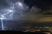 Extra lightning love at the foot of the Jura, during the thunderstorms of August 22, 2018. Extra cloudy lightning at the foot of the Jura, and near Geneva, during a situation of lightning storms along the Jura. France