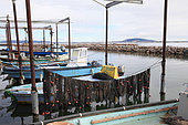 Oyster farmer boats, Etang de Thau, France