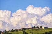 Cumulonimbus in formation, region of Seyssel, Haute Savoie, France