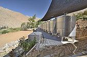 Fermentation tanks, Pisquera Los Nichos, Elqui Pisco, Elqui, IV Region of Coquimbo, Chile