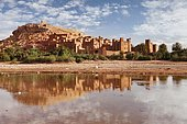Kasbah Ait-Benhaddou, patrimoine mondial de l'UNESCO, Atlas, montagnes de l'Atlas, près de Ouarzazate, Maroc