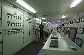 Machine Control Room of a Container Ship.