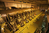 Engine of a container carrier 350 m long.