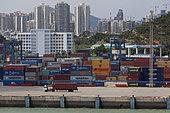 Container port of Xiamen, Fujian, China.