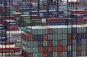 Containers Port of Ningbo, Zhejiang, China.