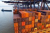 Containers in Xiamen Port, Fujian, China.