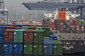 Containers and Container Ships, Yantia Container Port, Shenzhen Port, China