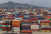 Containers, Yantian Container Port, Shenzhen Port, China.