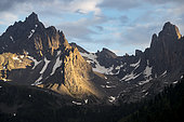 Vallée de la Clarée, peaks of the Tête Noire massif (2922m), Névache, Hautes-Alpes, France