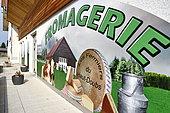 Comté cheese, Cheese factory and shop, Damprichard, Doubs, France