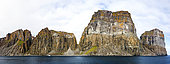 Cape Searle cliffs housing a seabird breeding colony, Baffin, Nunavut, Canada