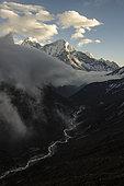Himalaya Mountains and Watercourse, Nepal