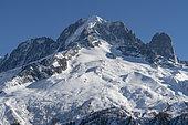 Aiguille Verte, in the Mont-Blanc massif, Haute-Savoie, Alps, France