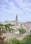 "Village of Saint Emilion, vineyard registered in 1999 by UNESCO World Heritage of Humanity as ""cultural landscape"", France"