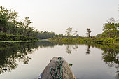 Boat trip on the river, Chitwan National Park, Nepal