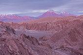 Valle de la Muerte (Valley of the Death), in background Andes mountains, Atacama desert. Region de Antofagasta. Chile