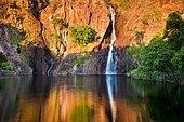 Wangi Falls at sunset, Litchfield National Park, Northern Territory, Australia, Oceania