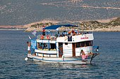 Diving boat, Kas, Ka?, Turkey, Asia