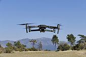 Drone 4K DJI MAVIC 2 PRO in flight.