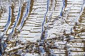 Hamlet of Bonnefin above Besse en Oisans in winter, Oisans Valley, Hautes Alpes, France