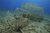 Photo complaint, garbage in the sea. Abandoned fishing pots. It does not matter the place if not the consequences.