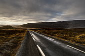 Road in the Varanger Peninsula, Finnmark, Norway