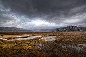 Landscape of the Varanger Peninsula, Finnmark, Norway