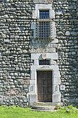 Door and window of Bon Repos Castle, Jarrie, Isere, Rhone-Alpes, France