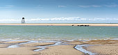 Walde Lighthouse and its seal colony, Opal Coast, Les Hemmes de Marck, Pas-de-Calais, France