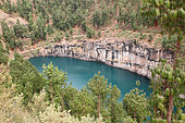 Tritiva crater lake in lush greenery, Central West Madagascar