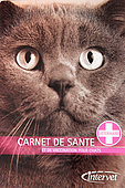 Cover of a health and vaccination booklet for cats