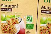 Food with organic farming label, France