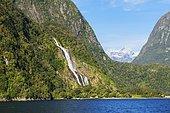 Milford Sound, Fiordland National Park, South Island, Southland, New Zealand, Oceania