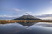 Mount Taranaki, Mount Egmont National Park, North Island, New Zealand