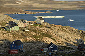 Houses in the village of Ittoqqotoormiit, North East Greenland