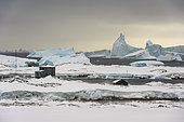 Vernadsky research base, the Ukrainian Antarctic station at Marina Point on Galindez Island in the Argentine Islands, Antarctica.