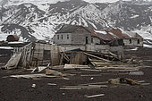 The remains of the Norwegian Hektor whaling station, Deception Island, Antarctica.
