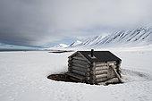 Arctic Fox Hunting Station, Mushanna, Spitzbergen, Svalbard Islands, Norway