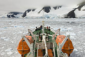 Antarctica, Antarctic Peninsula, Lemaire Channel, Antarctic Dream ship.