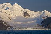 Antarctica, South Shetlands Islands, Livingston Island, False Bay, Charity Glacier.