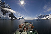 Antarctica, Antarctic Peninsula, Lemaire Channel, Antarctic Dream ship.