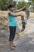 Sale of black iguanas (Ctenosaura sp) to make soup, Nicaragua.