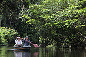 Ecotourism in flood forest, Napo Wildlife lodge, Yasuni Nationl Park, Amazon, Ecuador