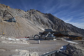 Sommet de la Zugspitze 2964 m, Garmisch-Partenkirchen, Bavière, Allemagne.